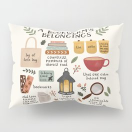 A Bookworm's Belongings Pillow Sham
