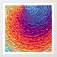 she drowns, I sleep Art Print
