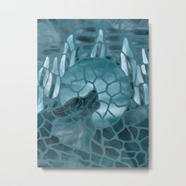 Moonlight Story (Teal) Metal Print