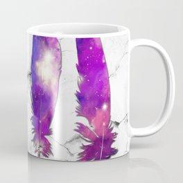 marble galaxy feathers Coffee Mug