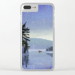 rocky cliff Clear iPhone Case