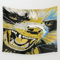 guardians of the galaxy Wall Tapestries featuring Rocket, Guardians of The Galaxy by Goolpia
