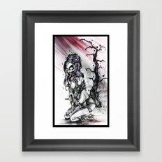 Black Cherry Framed Art Print