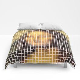 Mona Lisa Deconstructed Comforters