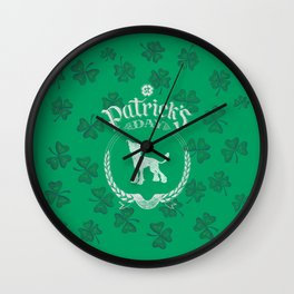 St. Patrick's Day Chinese Crested Funny Gifts for Dog Lovers Wall Clock