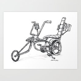FrankenBike! Art Print