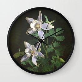Columbine Flower Photograph Wall Clock