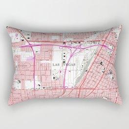Vintage Map of Las Vegas Nevada (1967) 3 Rectangular Pillow