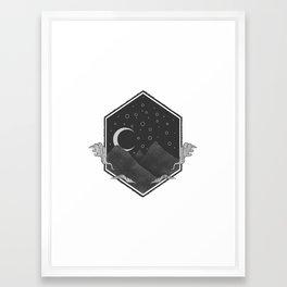 Dark Hills Framed Art Print