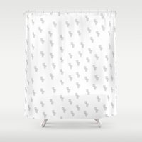 toilet Shower Curtains featuring Toilet Print by Amanda Roof