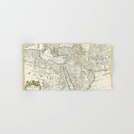 Vintage Map Print - A Map of Turkey, Arabia And Persia. Corrected from the latest Travels (1721) Hand & Bath Towel