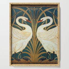 Walter Crane Swan, Rush And Iris Serving Tray