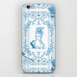Marie-Antoinette Monogram (Aqua) iPhone Skin