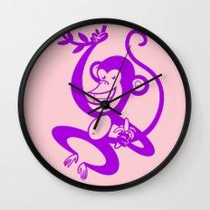 Purple Monkey Wall Clock