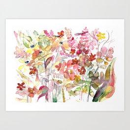 Wild flowers IV Art Print