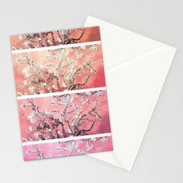 Vincent Van Gogh Almond Blossoms Panel Pink Peach Stationery Cards