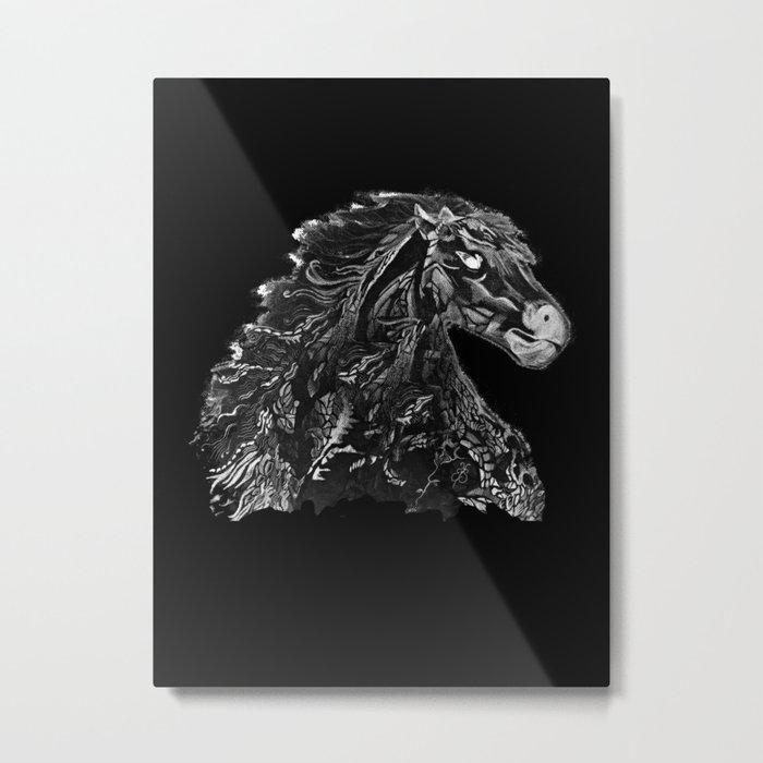Knight Stallion Metal Print
