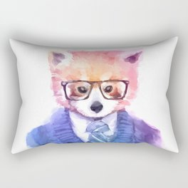 Cute fashion hipster animals pets red panda Rectangular Pillow