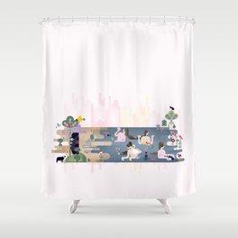 Peek-a-Boob Shower Curtain
