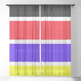 Stripes with color Sheer Curtain