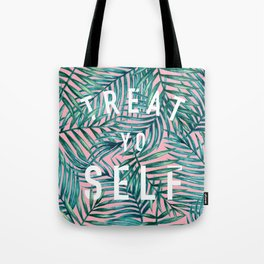 Treat Yo Self (Palm Print) Tote Bag