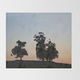 Eucalyptus trees at sunset Throw Blanket