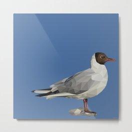 Black-headed gull - Low poly digital art Metal Print