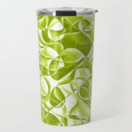 Green and White Pattern Travel Mug