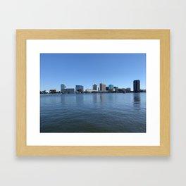 Norfolk, VA - Downtown Framed Art Print