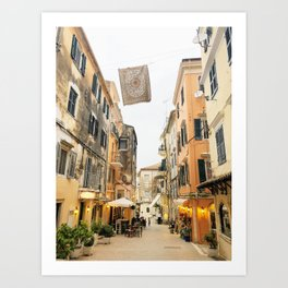 Corfu evenings Art Print