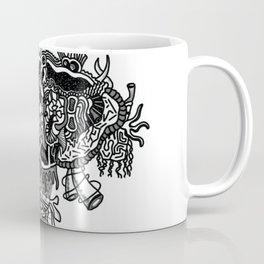 Abstract Style Corazón Crazy Coffee Mug