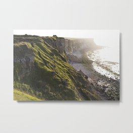 The Beautiful Cliffs of France Metal Print