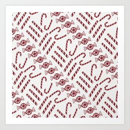Candy Cane Love Art Print