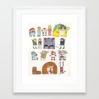 nintendo Framed Art Prints featuring Nintendo Characters by Hamburger Hands