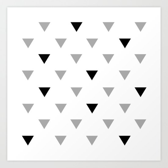 black triangles Art Print
