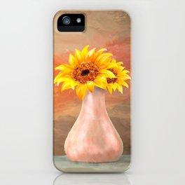 Vase of Sun....flowers iPhone Case
