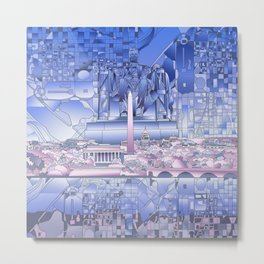 washington dc city skyline Metal Print