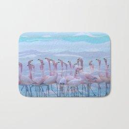 Flamingos #7, fun design Bath Mat