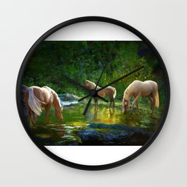 The Family Pond Wall Clock