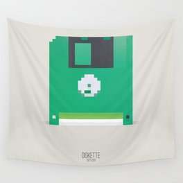 Pixelated Technology - Diskette Wall Tapestry