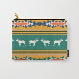 Ethnic Christmas pattern with deer Carry-All Pouch