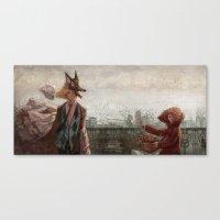 werewolf Canvas Prints featuring Werewolf by Yuko Fukushima