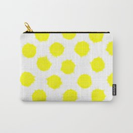Lemon Drop Polka Dot Bright and Cheery Print Carry-All Pouch