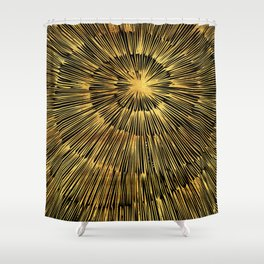 gold spiral Shower Curtain
