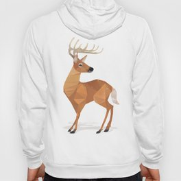 Low Poly White-tailed Deer Hoody