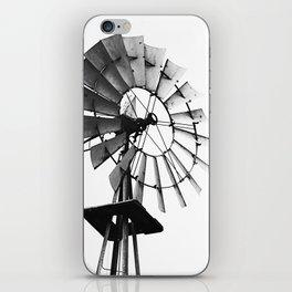Windmill Black and White iPhone Skin