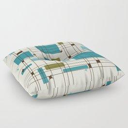 Mid-Century Modern (teal) Floor Pillow