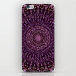 Detailed mandala in pink and purple tones iPhone Skin