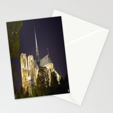 Notre Dame at Night Stationery Cards