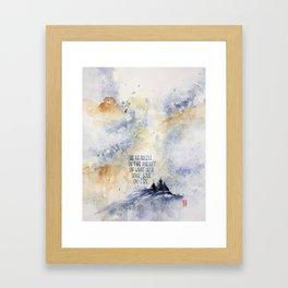 be fearless Framed Art Print